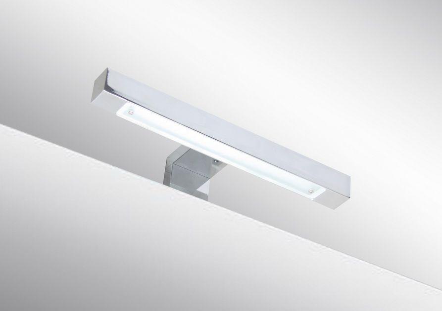 badspiegel 45x60cm spiegel eckig mit energiesparender led beleuchtung kaltwei ip44 mit sensor. Black Bedroom Furniture Sets. Home Design Ideas