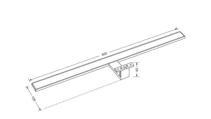 LED Lampe IS020-600A- rein weiß für Badezimmer / Spiegel Beleuchtung